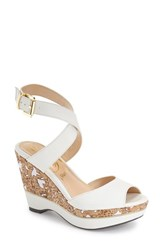 Women's J. Renee 'Sarila' Wedge Sandal White