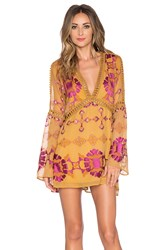 For Love And Lemons Barcelona A Line Dress Yellow