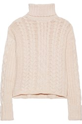 See By Chloe Knitted Turtleneck Sweater Pink