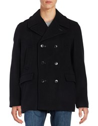 Pendleton Maritime Notch Collar Pea Coat Black