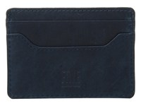 Frye Logan Card Navy Antique Pull Up Credit Card Wallet Blue