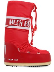 Moon Boot Classic Nylon Waterproof Snow Boots Red