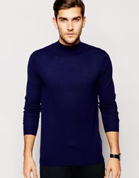 Asos Merino Turtle Neck Navy