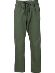 Obey Drawstring Slim Trousers Green