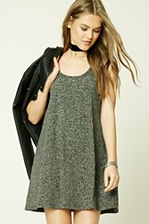Forever 21 Marled Knit Tank Dress Charcoal