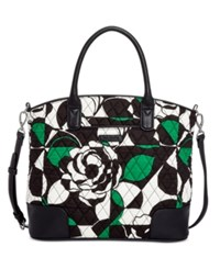 Vera Bradley Signature Trimmed Satchel Imperial Rose With Black
