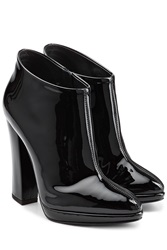 Giuseppe Zanotti Patent Leather Ankle Boots Black