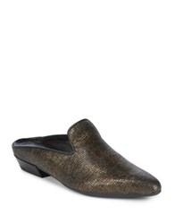 The Flexx Sisley Snake Embossed Leather Mules Bronze