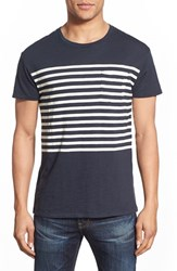 Men's Grayers 'Breton' Stripe Crewneck Blue Graphite Chalk Stripe