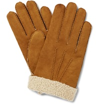 Hestra Shearling Gloves Brown