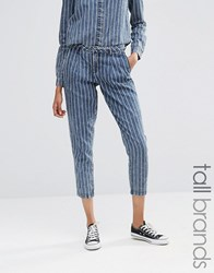Noisy May Tall Pinstripe Trouser Co Ord Blue