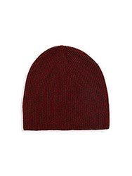 Vince Ribbed Cashmere Beanie Merlot