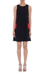 Lisa Perry Circular Pocket Shift Dress Black