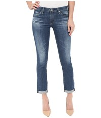Ag Adriano Goldschmied The Stilt Roll Up In Dunes Dunes Women's Jeans Burgundy