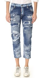 Dsquared Cool Girl Cropped Jeans Blue