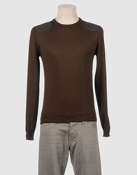 Vneck Crewneck Sweaters Dark Brown