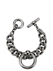 Mawi Bondage Chain Bracelet With Nipple Rings Silver