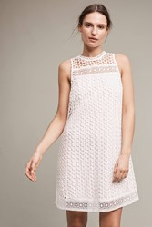 Anthropologie Snowscape Lace Swing Dress White