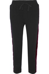 Haider Ackermann Velvet Trimmed Cotton And Wool Blend Track Pants Black