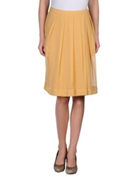 So Nice Knee Length Skirts Ocher