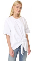 Marques Almeida Jersey Side Cord Top White