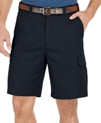 Geoffrey Beene Big And Tall Solid Cargo Shorts Black