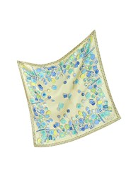 Julia Cocco' Lollipop Twill Silk Square Scarf Beige