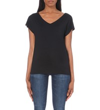 Tommy Hilfiger V Neck Jersey T Shirt Black