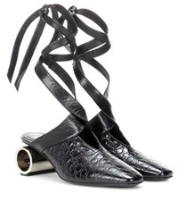 J.W.Anderson Leather Mules Black