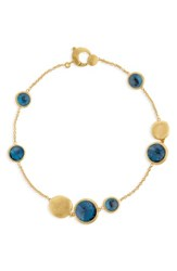 Marco Bicego 'Jaipur' Station Bracelet Yellow Gold Blue Topaz