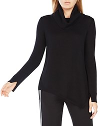 Bcbgmaxazria Waris Merino Wool Cowl Neck Sweater Black