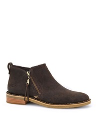 Ugg Clementine Shearling Lined Leather Booties Brown