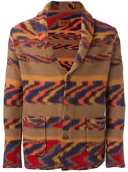 Missoni Zig Zag Pattern Cardigan Brown