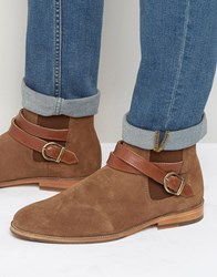 Bobbies Le Melomane Suede Buckle Boots Tan