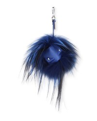 Fendi Fur Monster Charm For Men's Bag Blue Black Blue Black