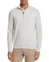 Brooks Brothers Cotton Half Zip Sweater Gray