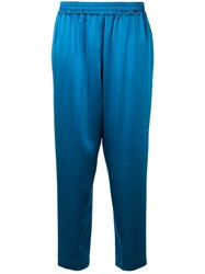 Gianluca Capannolo Elasticated Satin Trousers Blue