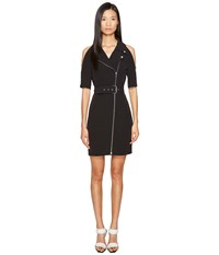 Jeremy Scott Mod Coat Dress Black Women's Dress
