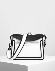 Charles And Keith Top Flap Satchel White