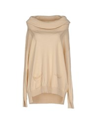 Les Copains Knitwear Turtlenecks Women Beige