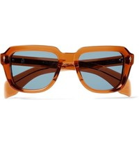 Hopper Jacques Marie Mage Taos Square Frame Acetate Sunglasses Brown