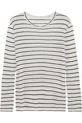 Etoile Isabel Marant Aaro Linen And Cotton Blend Slub Jersey Top Ecru