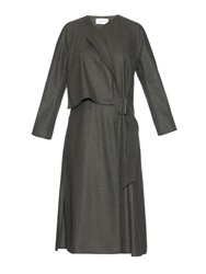 Lemaire Belted Wool Flannel Dress