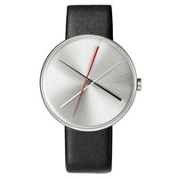 Projects Watches Crossover Watch Steel Black Leather Band