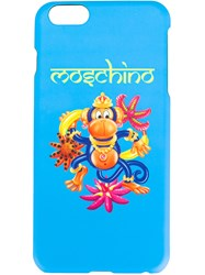 Moschino Crowned Monkey Iphone 6 S Plus Case Blue