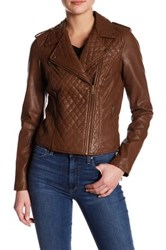 Levi's Faux Leather Moto Jacket Brown