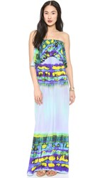 Msgm Long Tie Dye Dress Purple