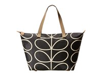 Orla Kiely Zip Shopper Liquorice 1 Tote Handbags Black