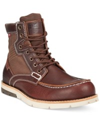 Levi's Dawson Canvas Moc Toe Boots Men's Shoes Burgundy