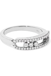 Messika Move Uno 18 Karat White Gold Diamond Ring